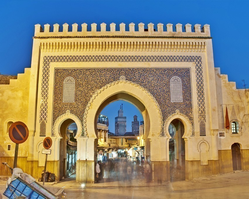 Bab Bou Jeloud gate (The Blue Gate) located at Fez, Morocco | 6 Reasons Why we fell in love with Morocco