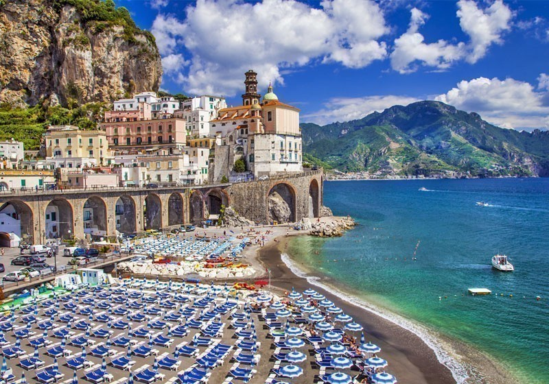 View of the Beautiful Town of Atrani at famous Amalfi Coast with Gulf of Salerno | 10 Little Towns You Must Visit in Italy