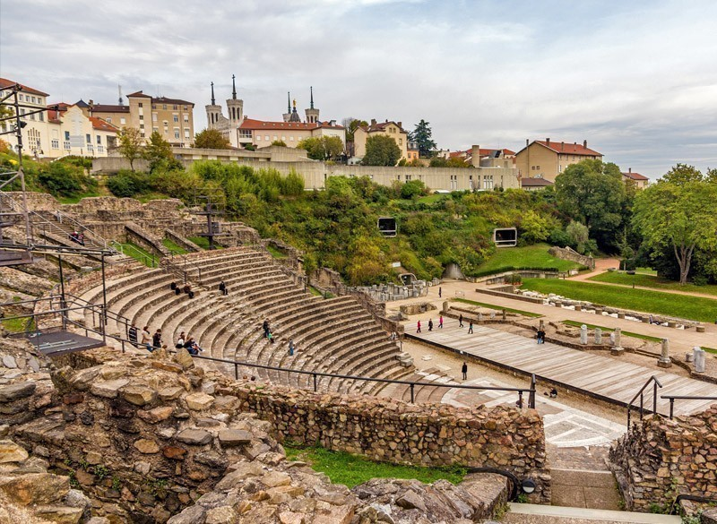 View of Ancient Theatre of Fourviere in Lyon | 10 Most Exquisite Places to Visit in France