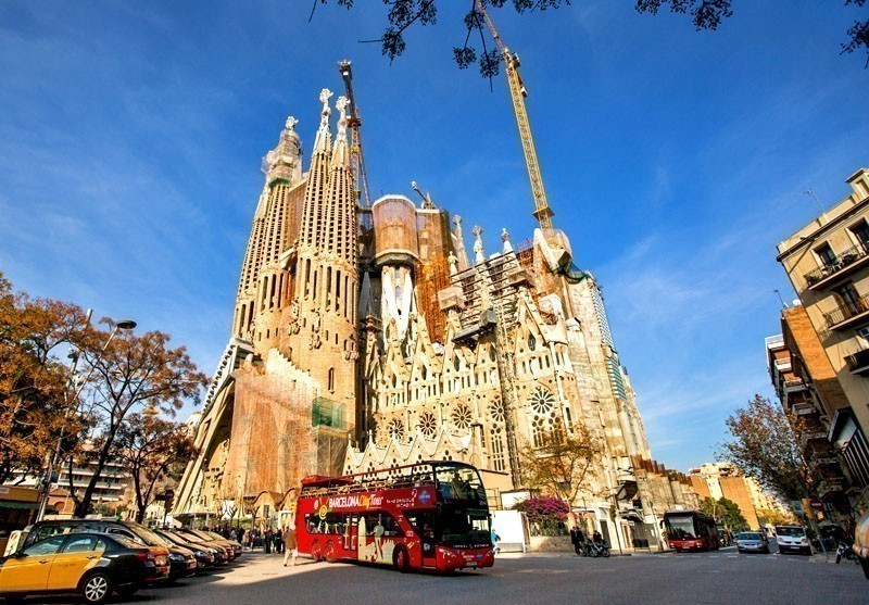 View of La Sagrada Familia - the impressive cathedral designed by Gaudi, which is being build since Mar 19, 1882 and is not finished yet | 10 Best Places to Visit in Spain