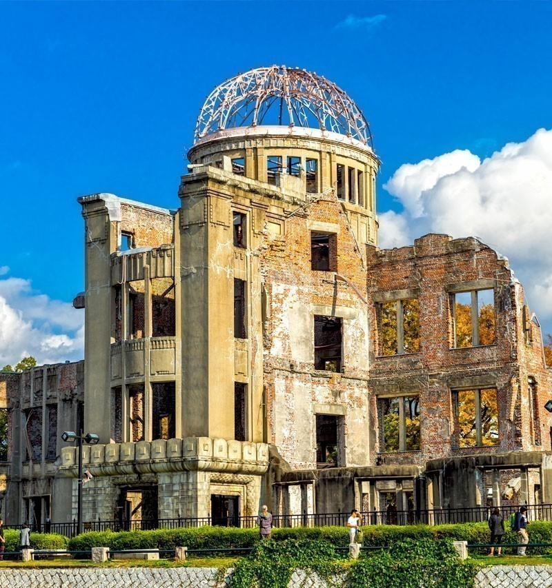 The Atomic Dome, ex Hiroshima Industrial Promotion Hall, destroyed by the first Atomic bomb in war, in Hiroshima. | TOP 10 Tourist Attractions in Japan You Must Visit