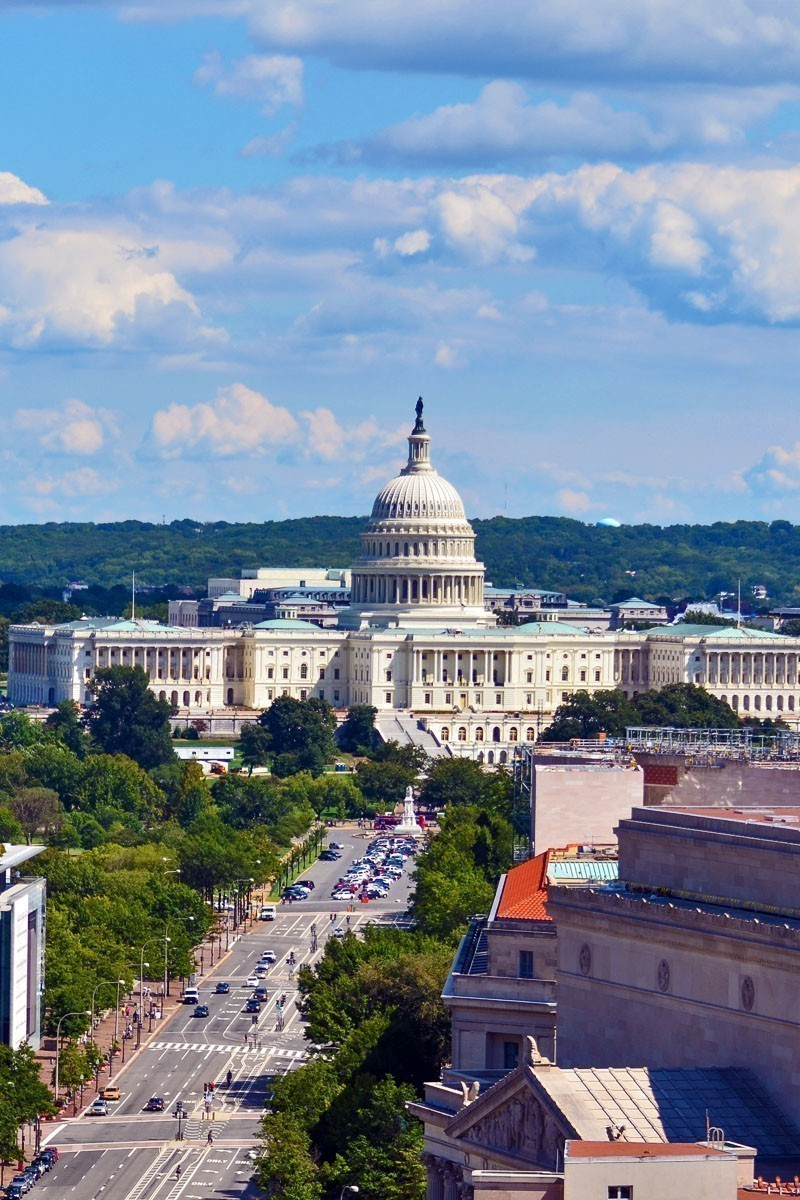 Amazing Aerial view of US Capitol - Washington DC | T OP 10 Places To Travel in March
