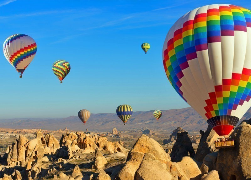 Hot Air Balloons flying over Cappadocia, Turkey | 10 Best Hot Air Balloon Rides Around The World