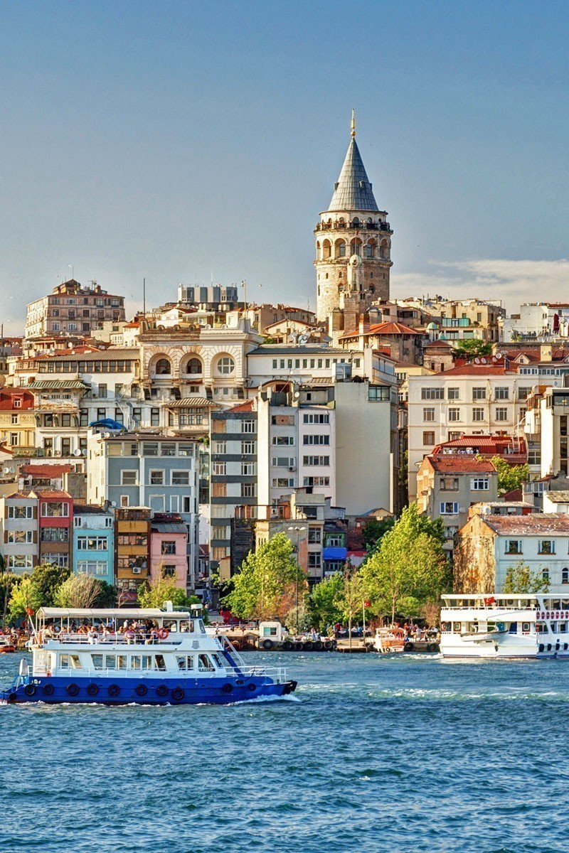 View of Galata Tower over the Golden Horn in Istanbul, Turkey | TOP 10 Places To Travel in May