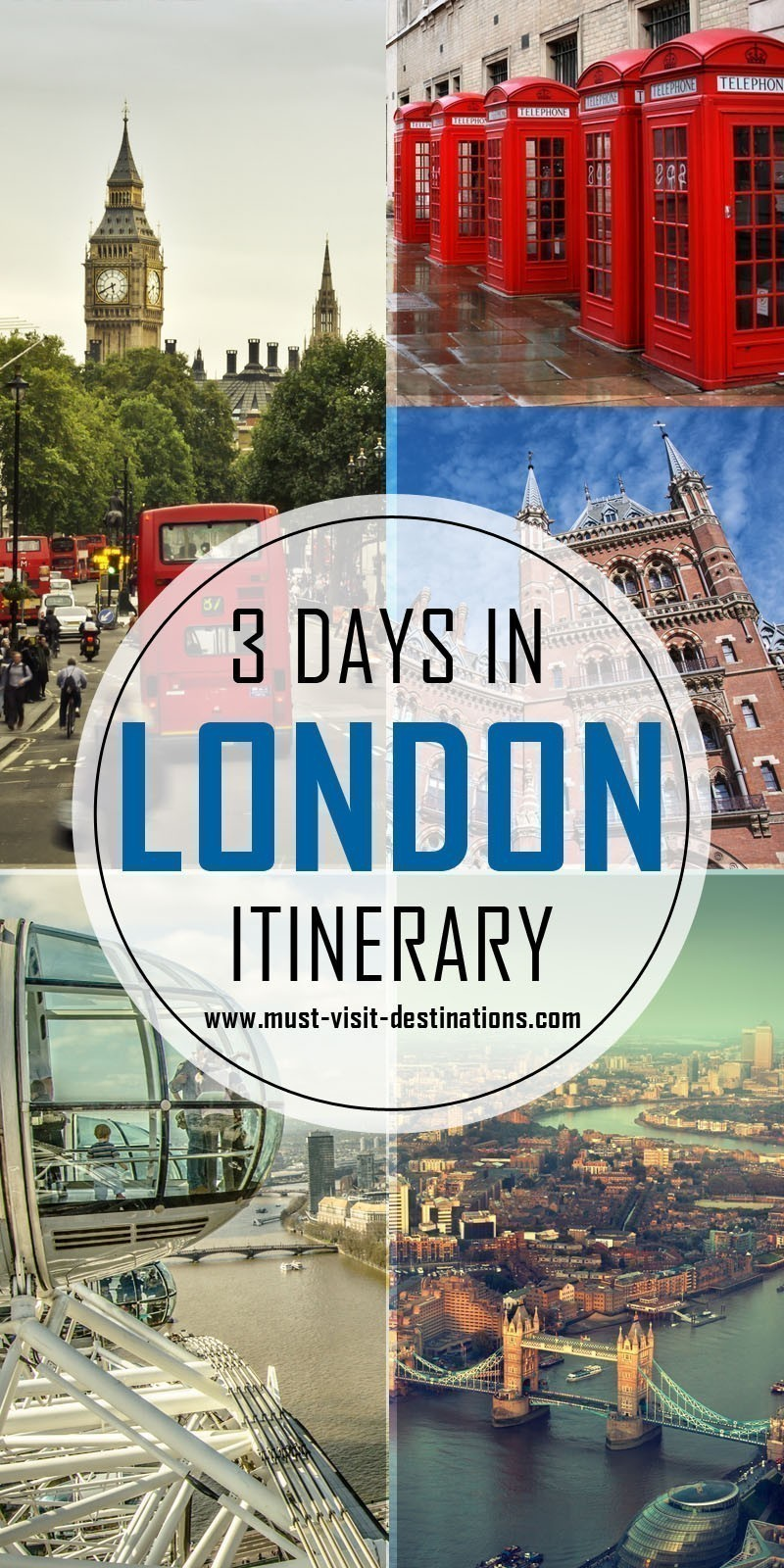 Only 3 days in London? No problem! Check out this sample itinerary! #must-visit #destination #london