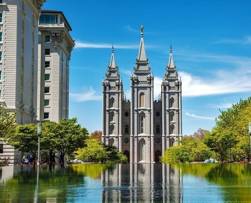 Mormon Temple, Salt Lake City (Utah), available only for external observation