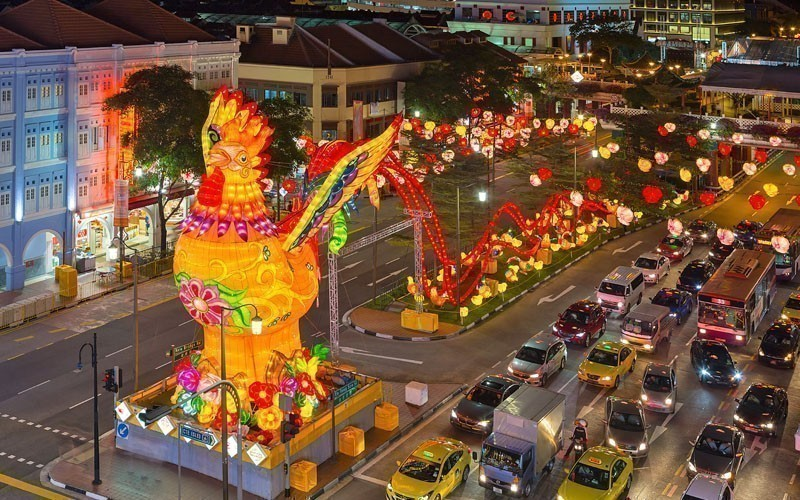 Singapore Chinatown celebrating Chinese New Year, one of the most anticipated events in the country | 10 Must-see Legendary Festivals in Asia