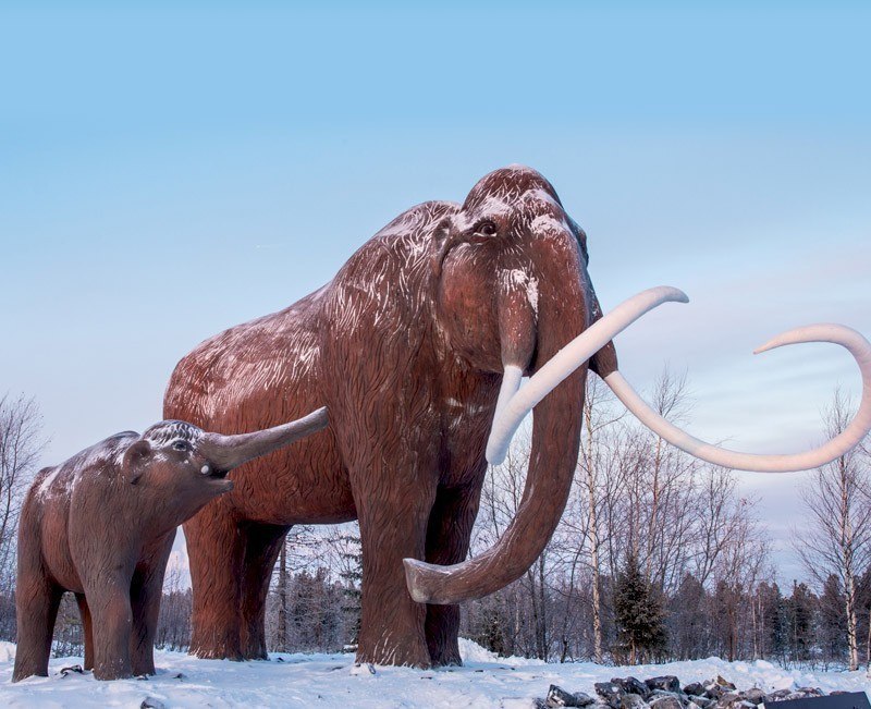 Mammoths monument near road to Nadym town in Western Siberia, Russia | 10 Reasons Why Russia Is A Treasure Chest Of Tourist Experiences