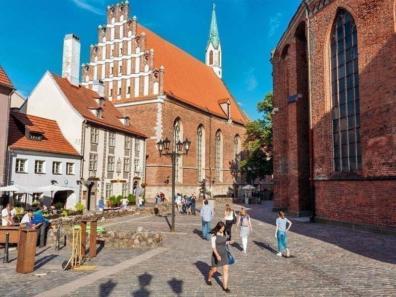 The Lutheran St. John's Church in Riga, a historical monument of national interest, being built in the Gothic style and presenting Germanic influence | What to Do in Riga in 3 Days