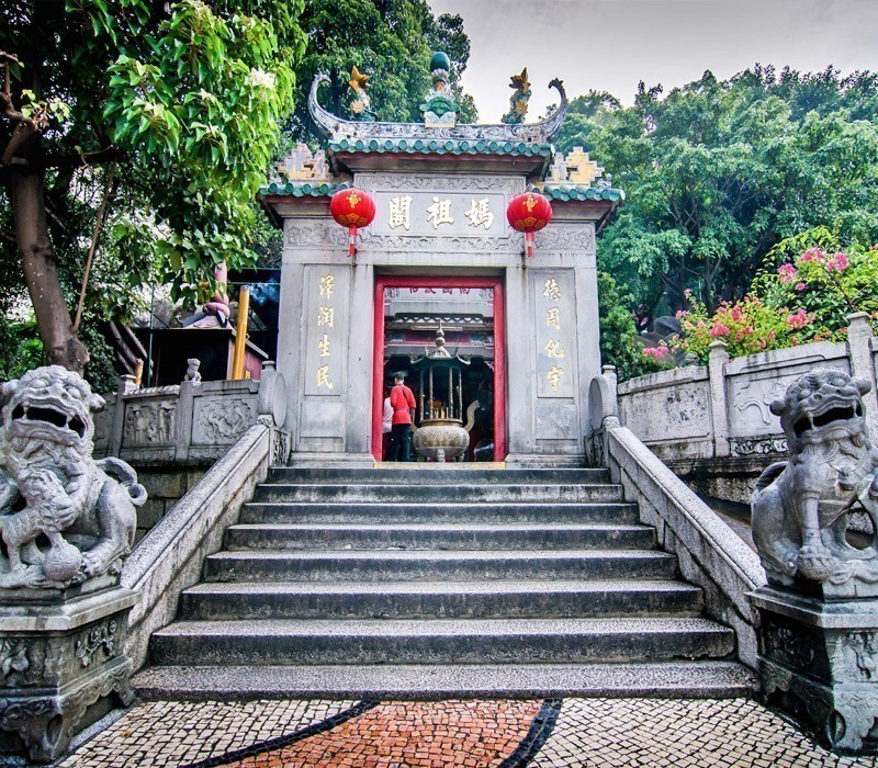 The splendid A-Ma Temple in Macau was dedicated to the goddess Matsu
