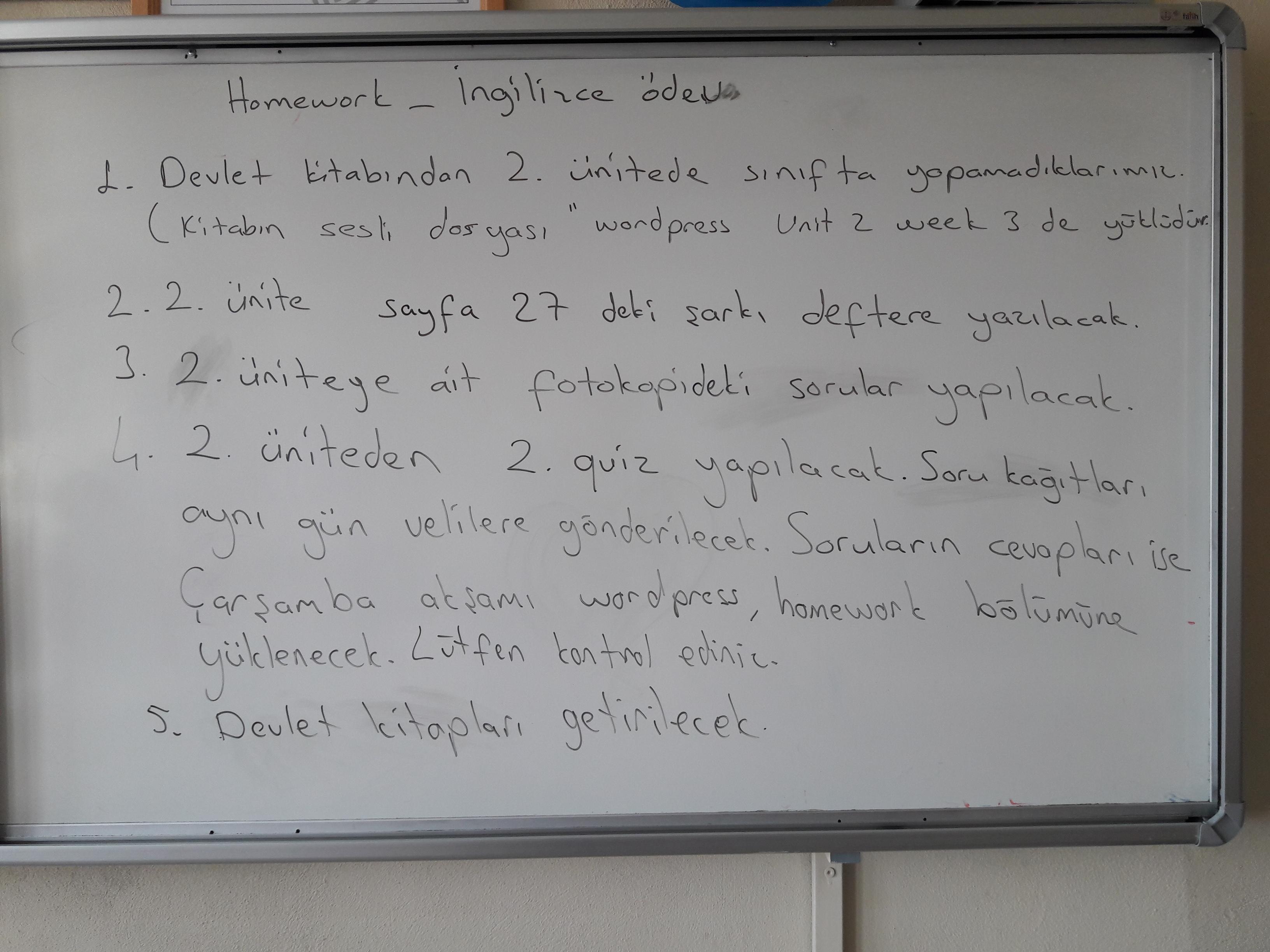 Homework Ev Odevi