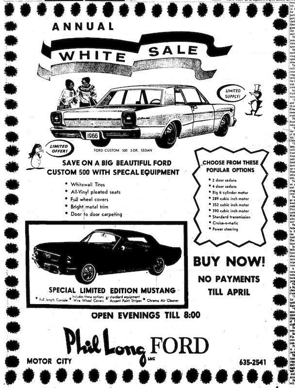 1966 Mustang Newspaper History