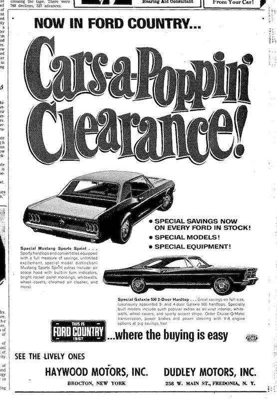 1967 Mustang Newspaper History