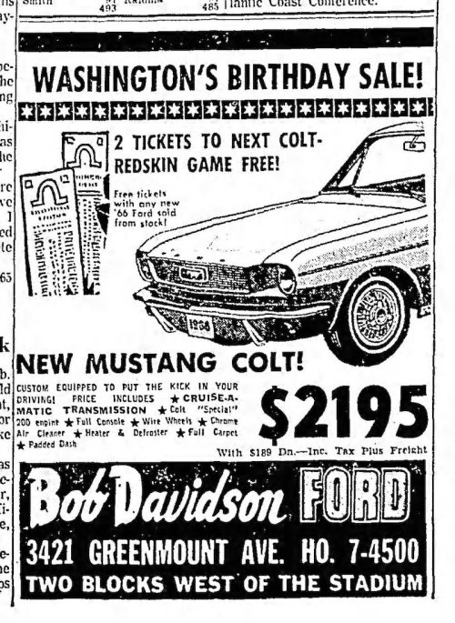 small resolution of 1966 mustang colt advertisement