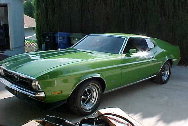 Medium Lime Green 1972 Ford Mustang Fastback