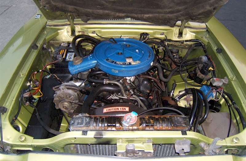 302 V8 Ford Engine Diagram Bright Green Gold 1974 Ford Mustang Ii Coupe