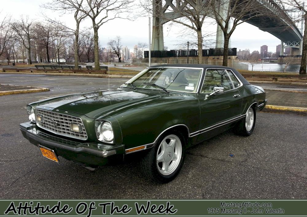 Classic Mustang Car Wallpaper Dark Yellow Green 1975 Ford Mustang Ii Coupe