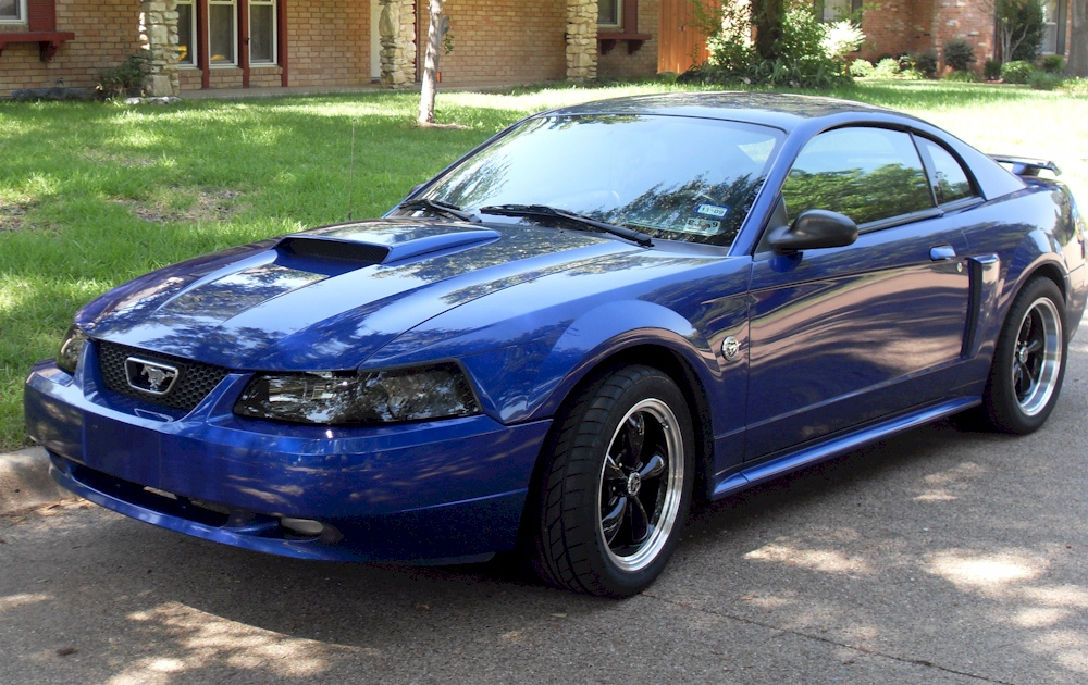 Car Throttle Wallpaper Sonic Blue 2004 Ford Mustang Gt Coupe Mustangattitude