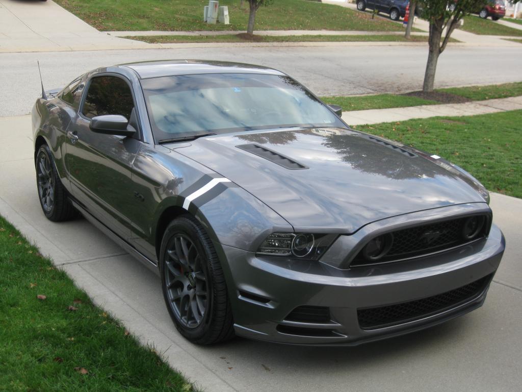Metallic Grey Mustang Black Rims