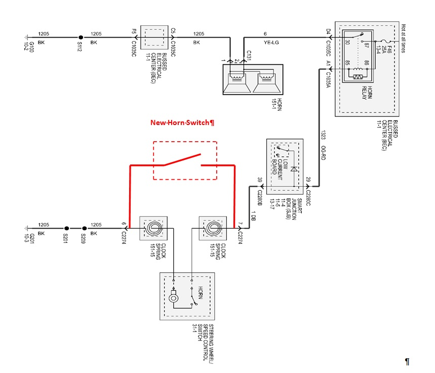 Contura Switch Wiring Diagram Horn For KC Light Relay