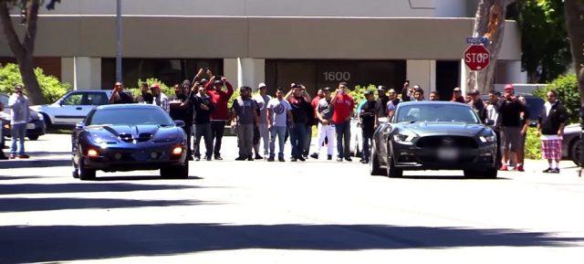 Mustang Vs Firebird drag race
