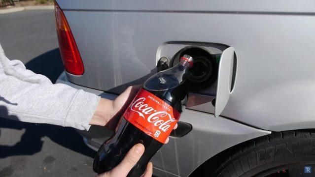 Coca Cola in Fuel Tank