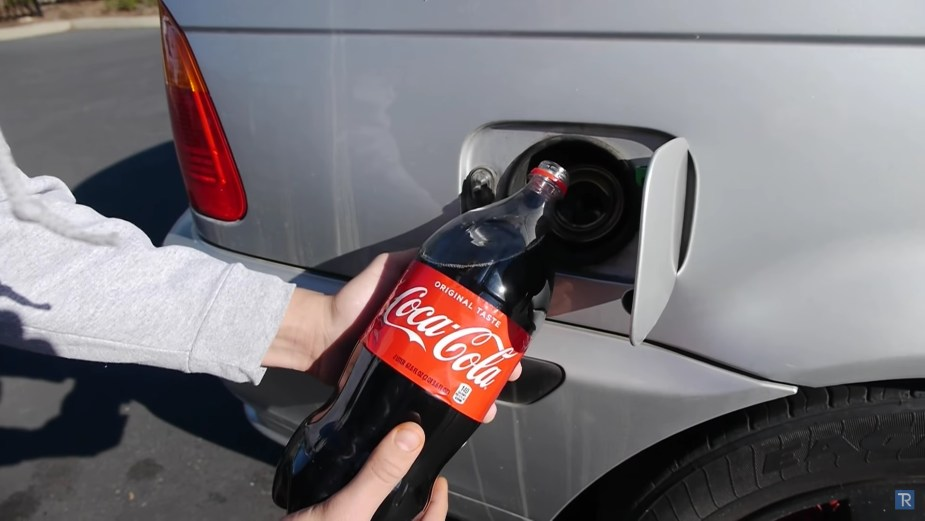Coca Cola in Gas Tank