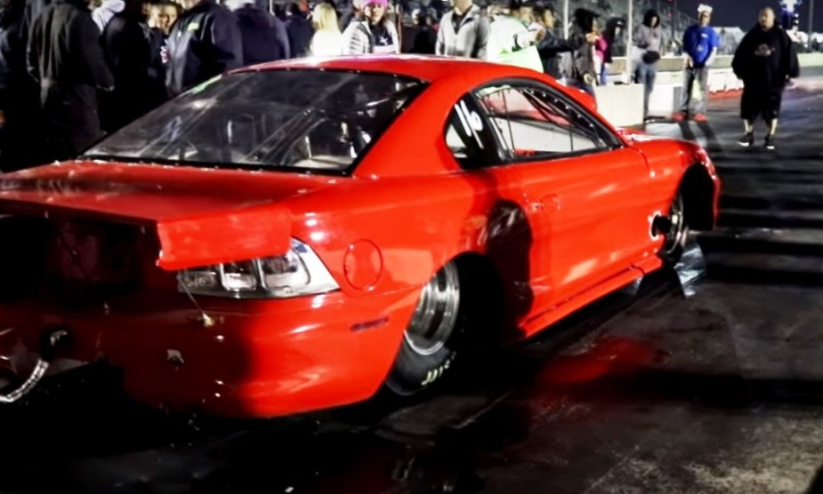 Ford Mustang -Twin turbo, big tire, back half at San Antonio Raceway