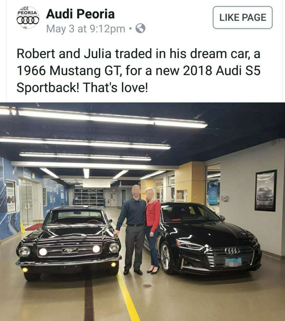 Couple Trades Mustang For Audi, All Hell Breaks Loose