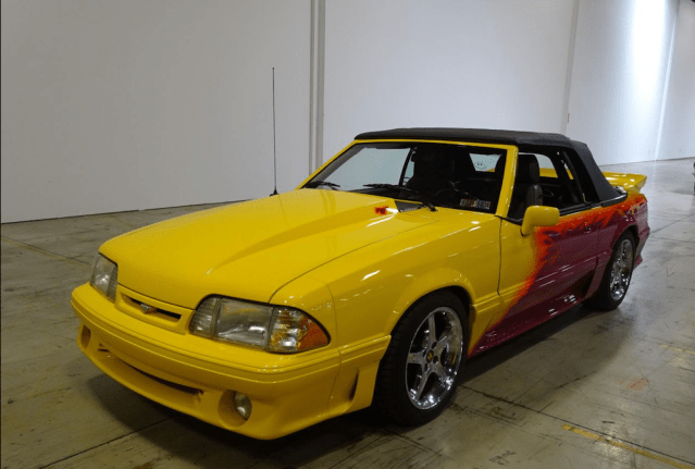 Custom 1989 Ford Mustang GT convertible.