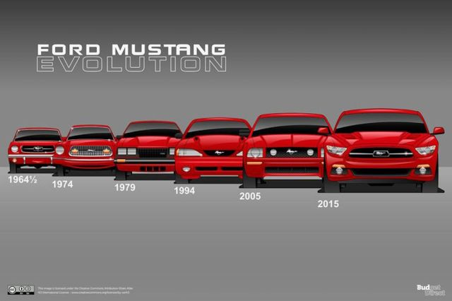 Budget Direct's Mustang evolution.