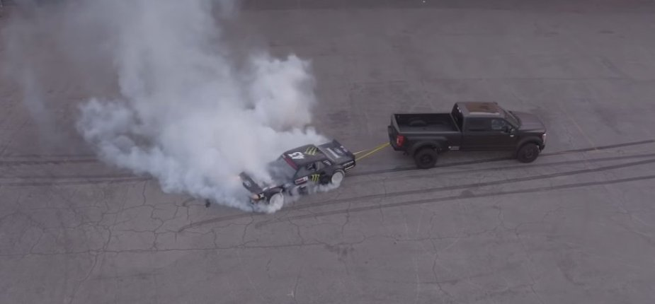 F-450 Pulls Mustang Backwards