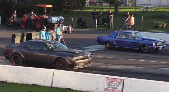 1965 Ford Mustang vs 2019 Dodge Demon