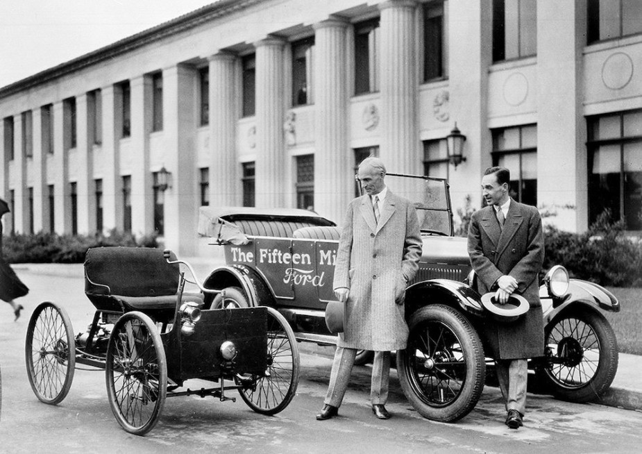 Henry and Edsel Ford, 1927