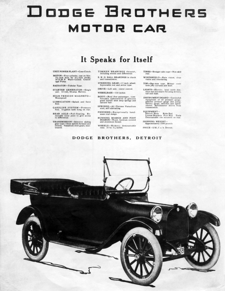 The 1914 Dodge Model 30-35, a Model T competitor.