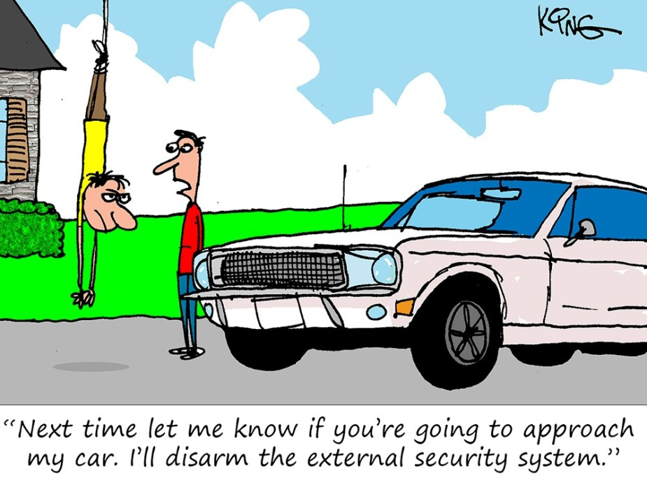 Mustang Forum Funnies - Security System