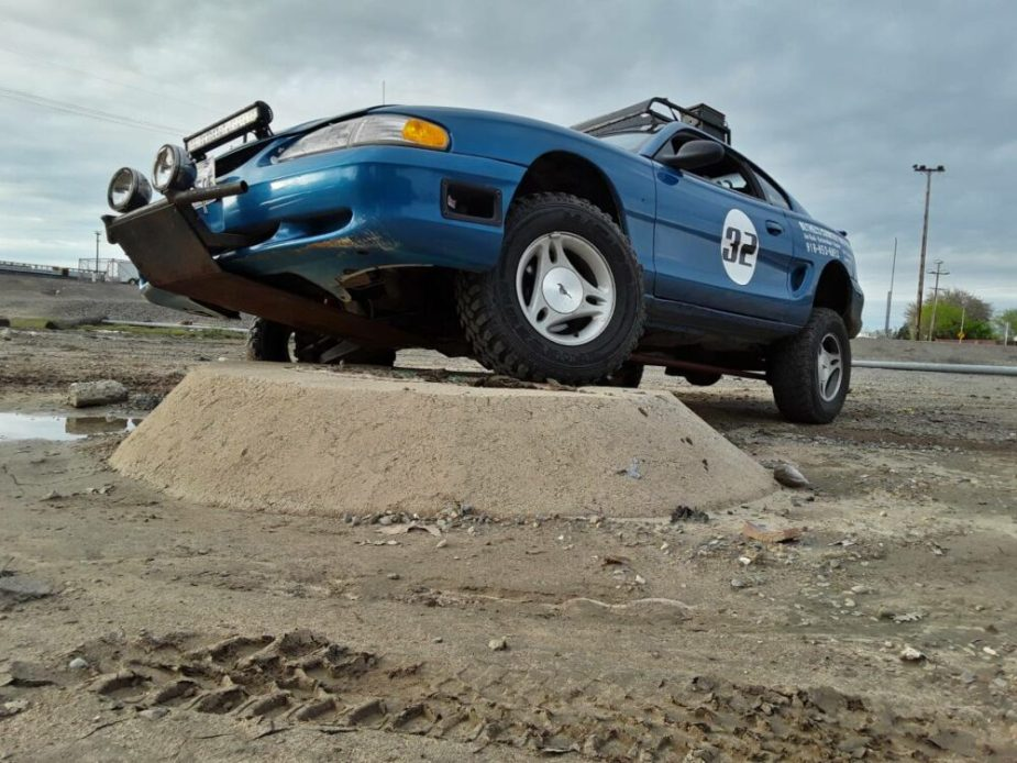Prerunner Mustang Trades Drag Radials For Mud Tires
