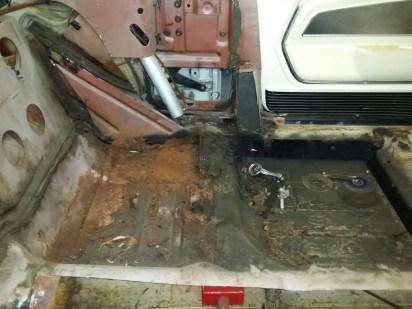 rear seat area