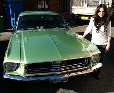 Liv with her car