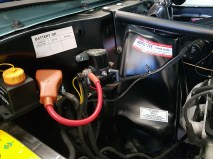 Remote battery immobiliser in place