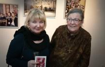 Soili Mustapää and Hilkka Blåfield. It was Hilkka's last Exhibition., she was very happy of it.