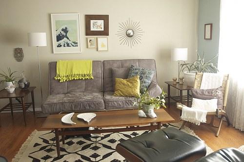 living room inspiration  mustard and sage