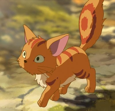The adorable animated cat from Children Who Chase Lost Voices