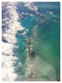 Over the Caribbean