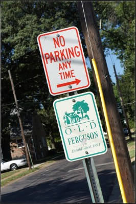 A hometown entry - No Parking in Ferguson