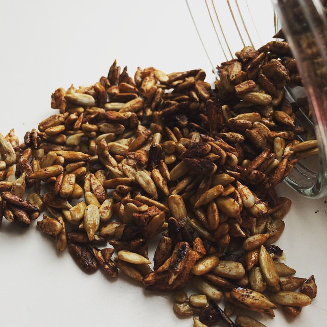 Snacktime: soy glazed sunflower seeds