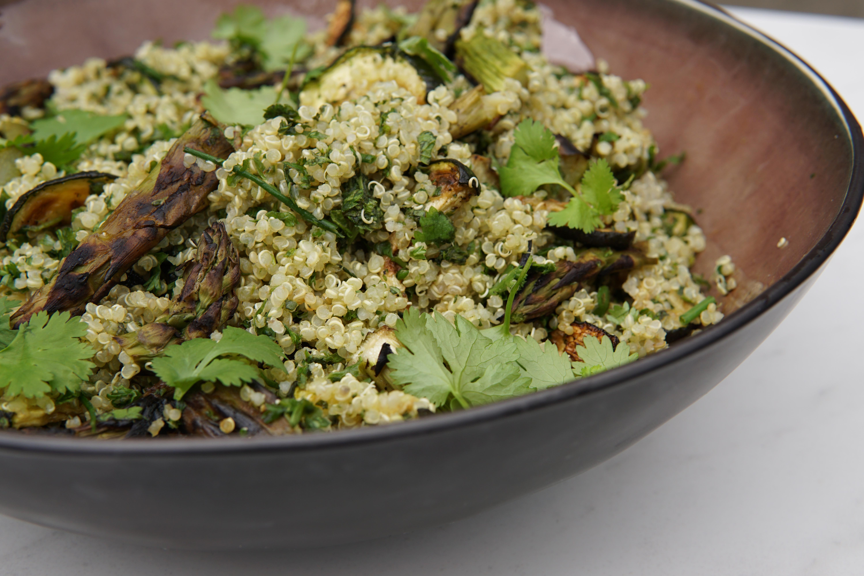 Mean Green Quinoa Salade met gegrilde groenten