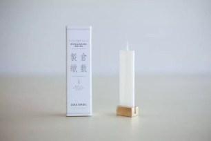 新舊結合的創意☆倉敷製蠟的超薄蠟燭「CARD CANDLE」