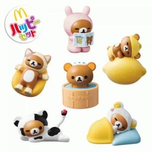 日本麥當勞兒童餐♪1月5日起,快來收集第2彈懶懶熊系列玩具~