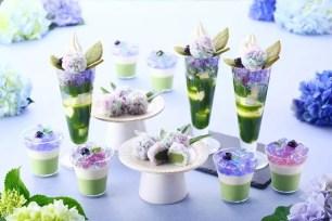 夢幻美麗的紫陽花♡京都伊藤久右衛門本店・茶房推出期間限定甜點